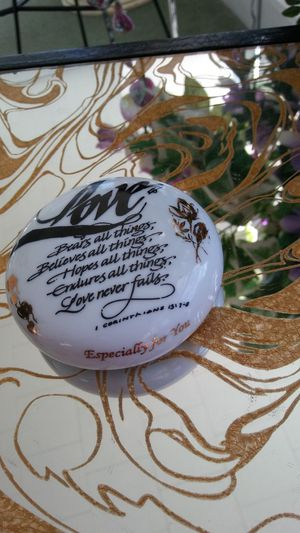 LOVE Porcelain Paperweight for Sale in Portsmouth, VA