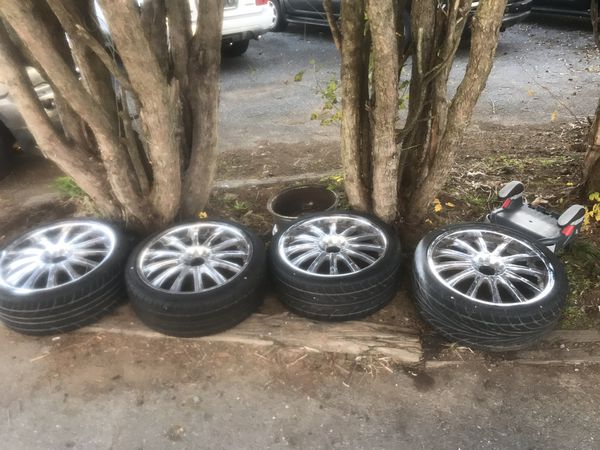 Chrome Rims With Tires