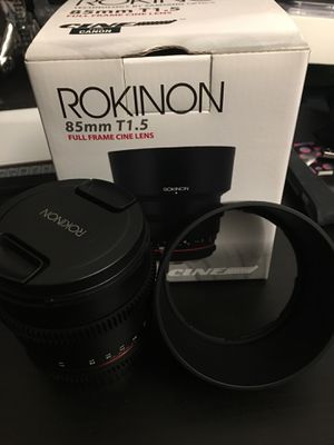 Rokinon 85mm T1.5 Full Frame Cine Lens Canon for Sale in Hialeah Gardens, FL