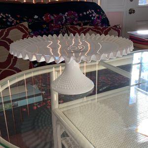 Milk Glass Cake Server for Sale in New Port Richey, FL