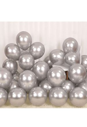 10 piece Gray Metallic Balloons 🎈 Hard to Find for Sale in Palmdale, CA
