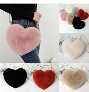Heart shape fur bag for Sale in Los Angeles, CA