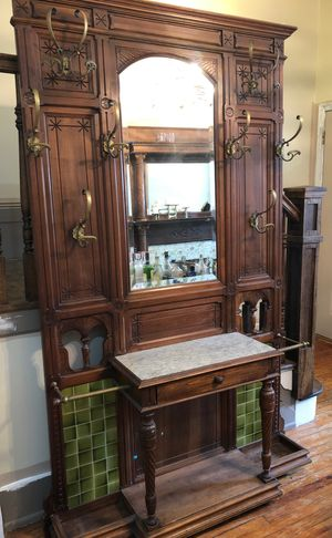 Antique Hall Tree, Coat and Umbrella Rack for Sale in Washington, DC
