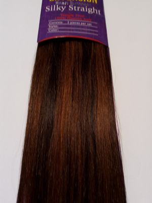"""18"""" ( 4/30) Two Pieces Set human hair extensions- chocolate brown & medium auburn- 60 grams ( 2 pieces with clips) for Sale in Downey, CA"""