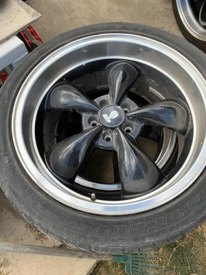 Black Ford 20's Cobra Rims set of 4 with real good tires for Sale in Upland, CA