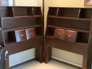 2 Twin beds bookshelves headboards for Sale in TWN N CNTRY, FL