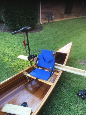 Handmade 18' canoe and all accessories fish ready for Sale in Arlington, TX