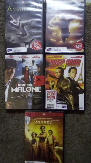 DVDs Sahara, Rush Hour 3, Give 'Em Hell Malone, The Wrestler, the Assailant for Sale in Port Orchard, WA