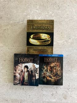 "Lord of the Rings Trilogy ""Extended Edition"" Collectors Set/Hobbit: An Unexpected Journey and The Hobbit: The Desolation of Smaug for Sale in Poinciana,  FL"