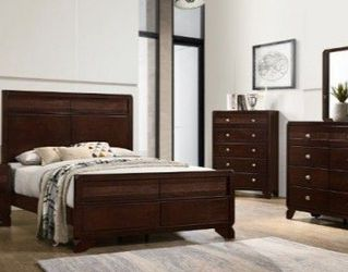 🌟🌟 SAVE UP 70 % OFF BEDROOM SET: QUEEN BED + NIGHTSTAND+ DRESSER+ MIRROR (**Mattress and Chest not included**) for Sale in Whittier,  CA