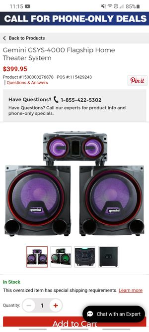 Bluetooth Party speaker 4000w for Sale in Long Beach, CA