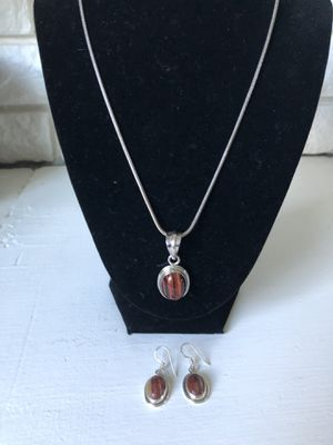 Sterling silver necklace and earrings for Sale in Wenatchee, WA