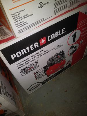 Porter cable air compressor and nail gun for Sale in Fayetteville, NC