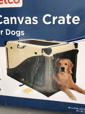 """Portable Canvas Crate For Dog Home & Travel Carrier Cage 36""""up to 70 lbs for Sale in Chicago, IL"""