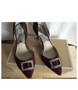 Michael Kors SHIRLEY Mid Pump Suede Shoes Merlot Size US 9 for Sale in OH, US