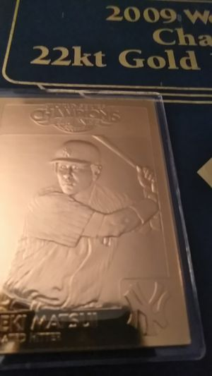 2009 World Series Gold Card *Hideki Matsui for Sale in Shelton, CT