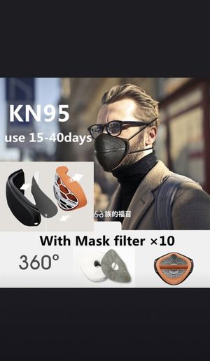 KN95 Face Mask Reusable - 2 Mask - 20 Filters for Sale in Los Angeles, CA