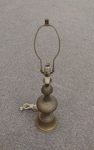 Vintage Etched Brass Lamp for Sale in Burlington, NC