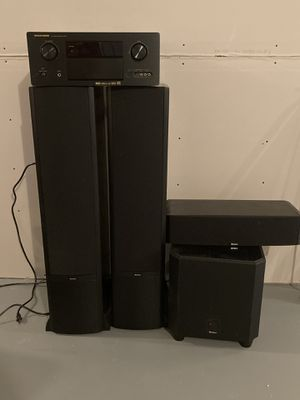Marantz receiver Boston speakers, subwoofer and center channel for Sale in Lincroft, NJ