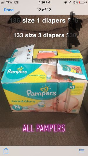 Newborn - size 3 diapers for Sale in Suffolk, VA