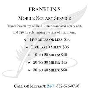 Mobile Notary Service (24hr) for Sale in West Palm Beach, FL