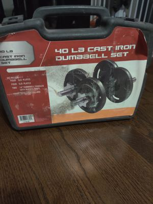 40 pounds cast iron dumbbell set for Sale in Bolingbrook, IL