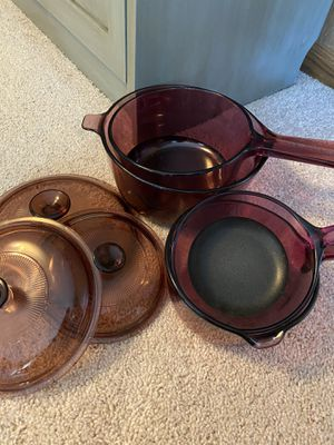 Pyrex pots with lids for Sale in Ijamsville, MD