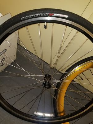 One 700cc nimbus flak jacket specialized Bike wheel and extra tire for Sale in San Diego, CA