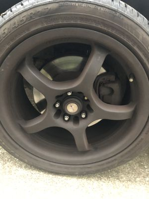 Matte black focal rims with tires. Bought in May this year so fairly new. $500 OBO for Sale in Cleveland, OH
