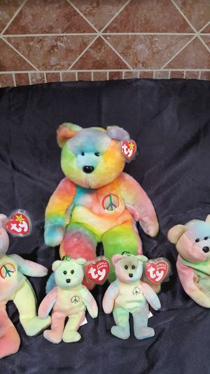 $175. 2- PEACE beanie babies 2- tiny 1-buddy for Sale in Battle Ground, WA