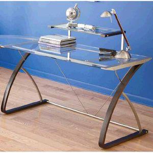 Real space- Merido desk Espresso/silver for Sale in Windermere, FL