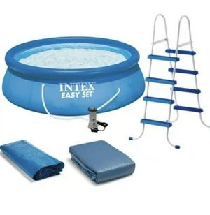 """Intex 15' x 48"""" Easy Set Above Ground Swimming Pool w/ Ladder & Pump for Sale in Ithaca, NY"""