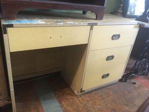 Vintage mid century campaign desk DIY $30 for Sale in San Diego, CA