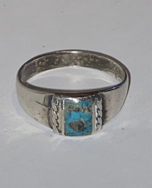 STERLING SILVER RING REAL TURQUOISE SIZE 8 for Sale in Fresno, CA