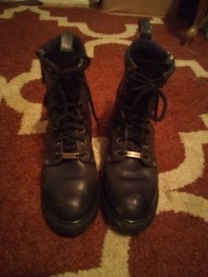 Black Leather Harley-Davidson Combat/Biker/Work Boots, Stock # 61035 for Sale in Graham, WA
