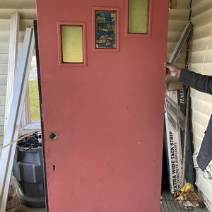 Solid Wood Door And Storm Door for Sale in Buffalo, NY