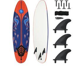 Goplus 6' Surfboard Surf Foamie Boards Surfing Beach Ocean Body Boarding Red for Sale in Baldwin Park,  CA