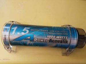Power Acoustik PC1.0F 1.5 Farad Digital Capacitor for Sale in Spring Valley, CA