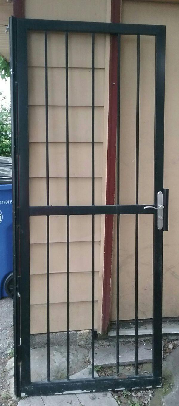 """36"""" Black Security Door"""