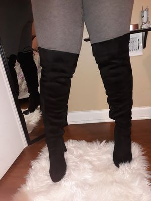 Black suede Thigh high Boots (Size 9) for Sale in Stamford, CT