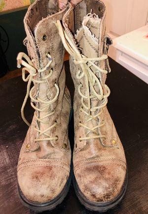 Roxy tan combat boots size 9 for Sale in Glendale, AZ
