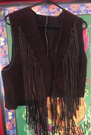 Real leather fringe vest for Sale in Taft, CA