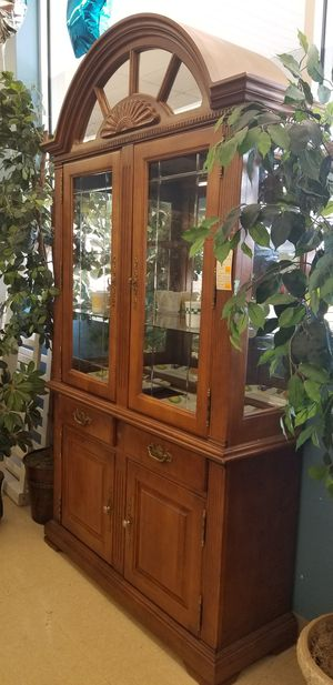 Display Cabinet with glass shelving, drawers and storage for Sale in Kernersville, NC