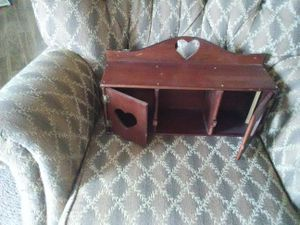 Hanging wall shelf with doors just needs to be dusted or polished was in storage for Sale in Gretna, VA