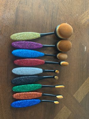 Glitter makeup brushes for Sale in Detroit, MI