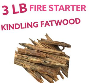 Organic Fatwood kindling resin filled fire starter for Sale in Milan, GA