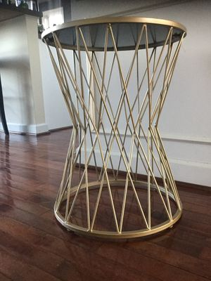 Gold Hourglass Accent Side Table for Sale in Leesburg, VA