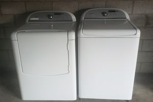 Whirlpool cabrio kingsize capacity heavy duty washer and electric dryer set for Sale in Phoenix, AZ