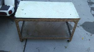 Wood & metal shelve with wheels for Sale in Salt Lake City, UT