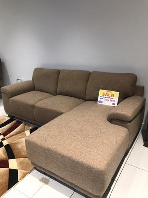 COMFY NEW HAVANA FABRIC SECTIONAL IN CAMEL. ADD ON NEW DESIGN AREA RUGS $150! FALL CLEARANCE SALES EVENT!! SAME DAY DELIVERY! NO CREDIT CHECK FINANCI for Sale in St. Petersburg, FL